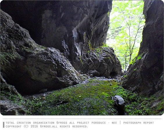 スゴログ 6FROGS ケイビング 倉沢鍾乳洞 林道