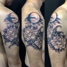 刺青★月夜牡丹(肩)…