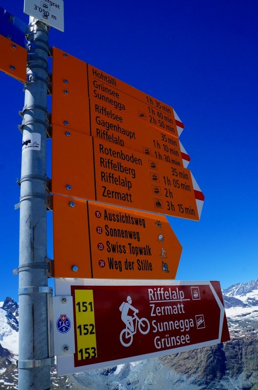 スイス旅行 ハイキング ツェルマット