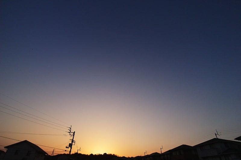 1月28日の夕焼け