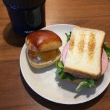 今日はサンドイッチ弁…