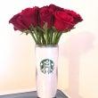 薔薇とスタバのタンブ…
