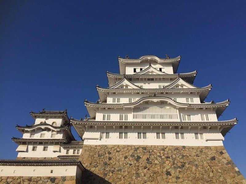 姫路城正面の光景