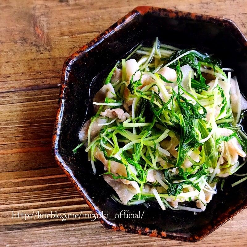 ♡5分de完成あっさりおかず♡豚肉と水菜の和風さっと煮♡