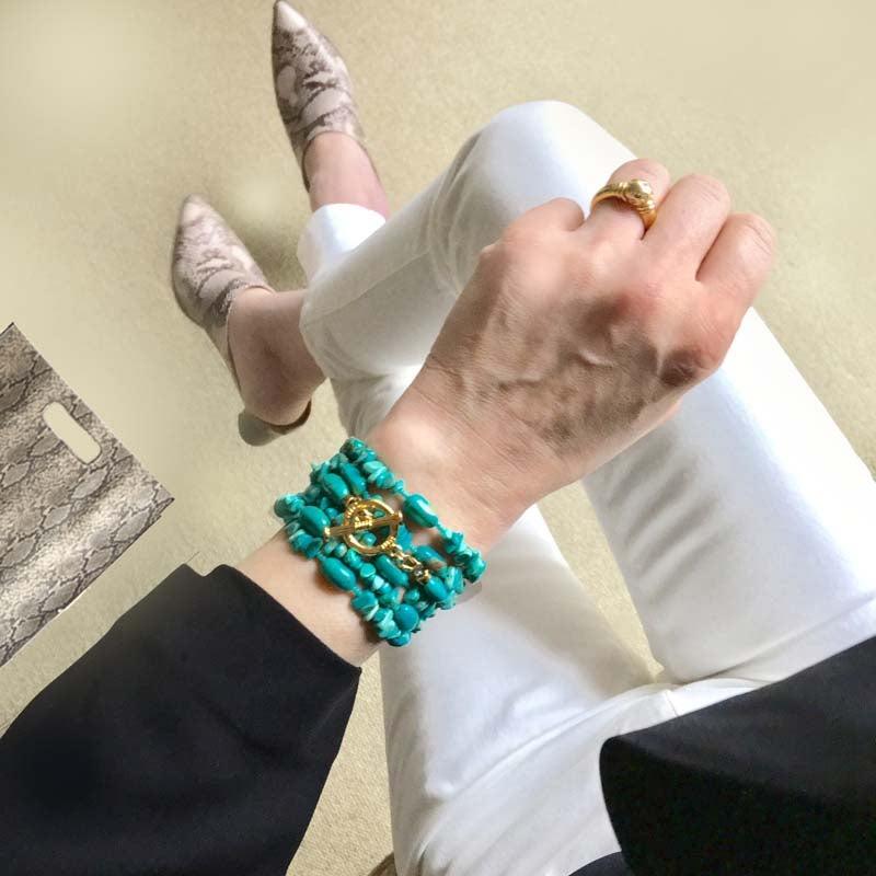 ラップブレス手元コーデ
