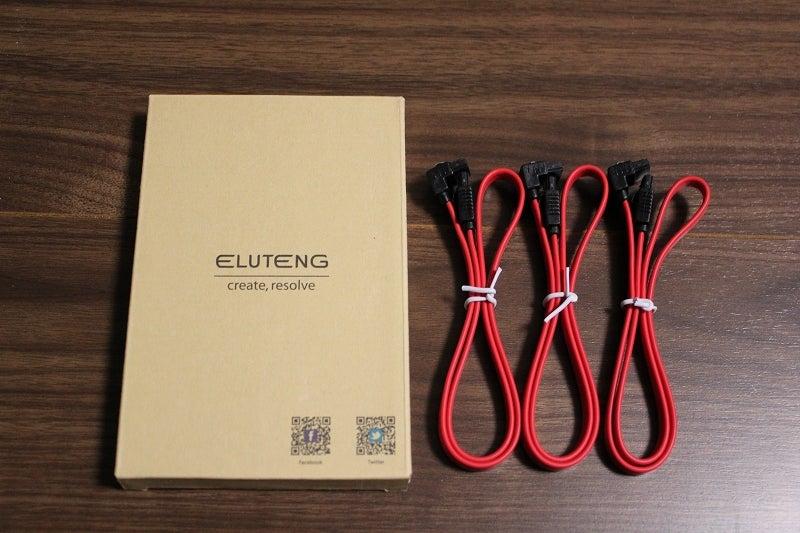ELUTENG SATA ケーブル 50cm 3本セット