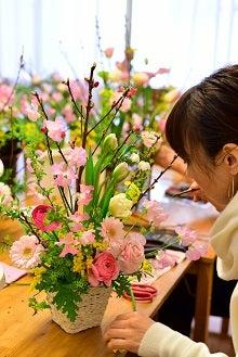 桃の花のアレンジメント 雛祭りアレンジ