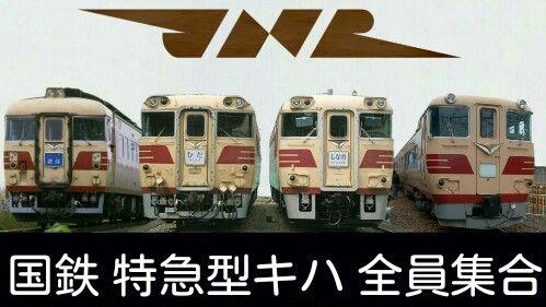 国鉄,特急,キハ82系,キハ181系,キハ183系,キハ391系