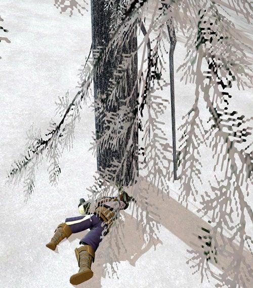 雪原に倒れるハイランダー