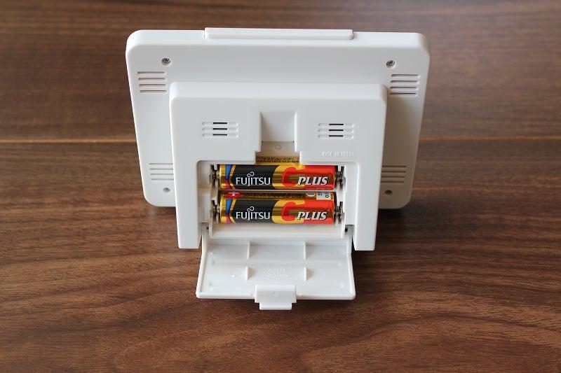NR535Hは単三電池2本使用
