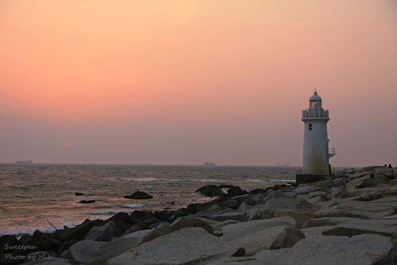 渥美半島 伊良湖岬 海岸 ビーチ 灯台 サンセット 夕焼け