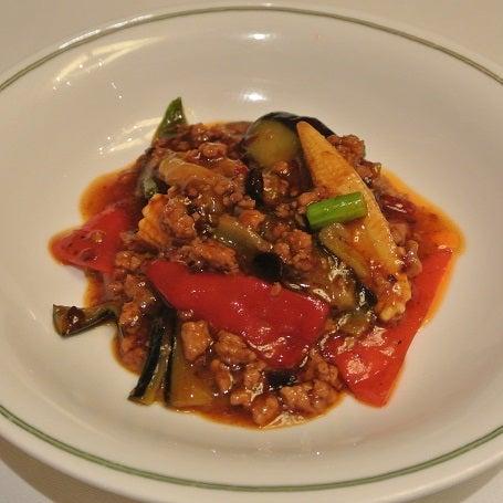 中国飯店 市ヶ谷店  茄子と野菜の辛味土鍋仕立て2