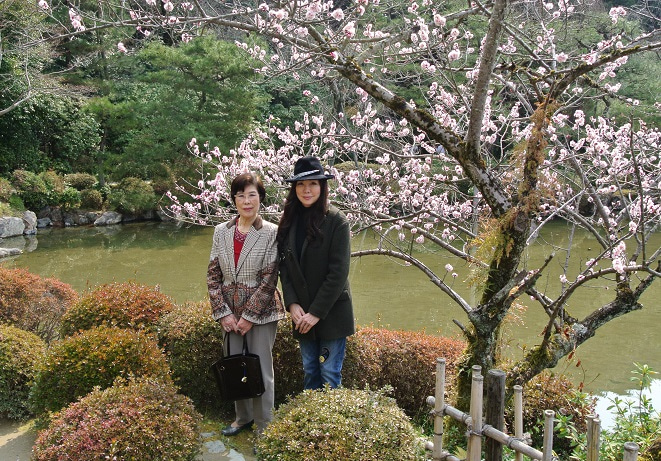 平安神宮 神苑 伊藤由美ママ&母紀子
