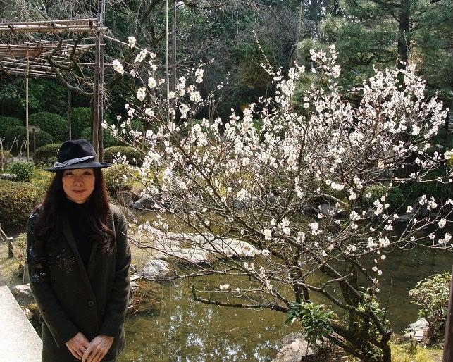 平安神宮 神苑 梅と伊藤由美ママ