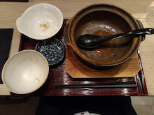 横浜なかや(味噌煮込みうどん定食 完食)