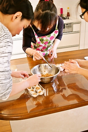 柏 オーガニック 料理教室 しゅうまいの成形