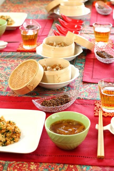 柏 オーガニック 料理教室 中華 テーブル