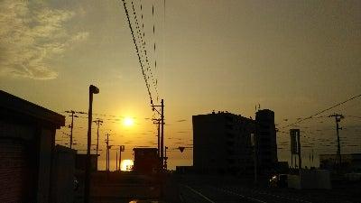 留萌の夕陽