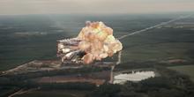 ラスボスの飛行機をミサイルが直撃