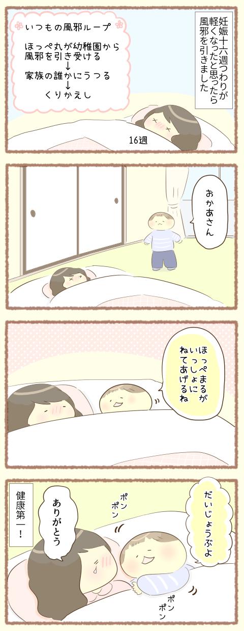 【双子妊娠16週】母、風邪を引く1