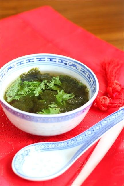 即席 ちぎりレタスと焼き海苔のカップスープ