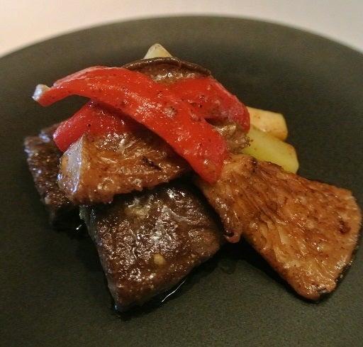琥珀宮 和牛フィレ肉と彩り野菜の地辛子炒め