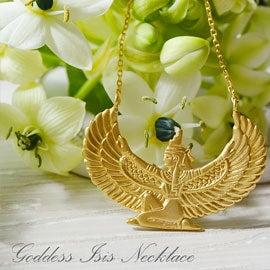 イシス女神 K18ゴールドネックレス