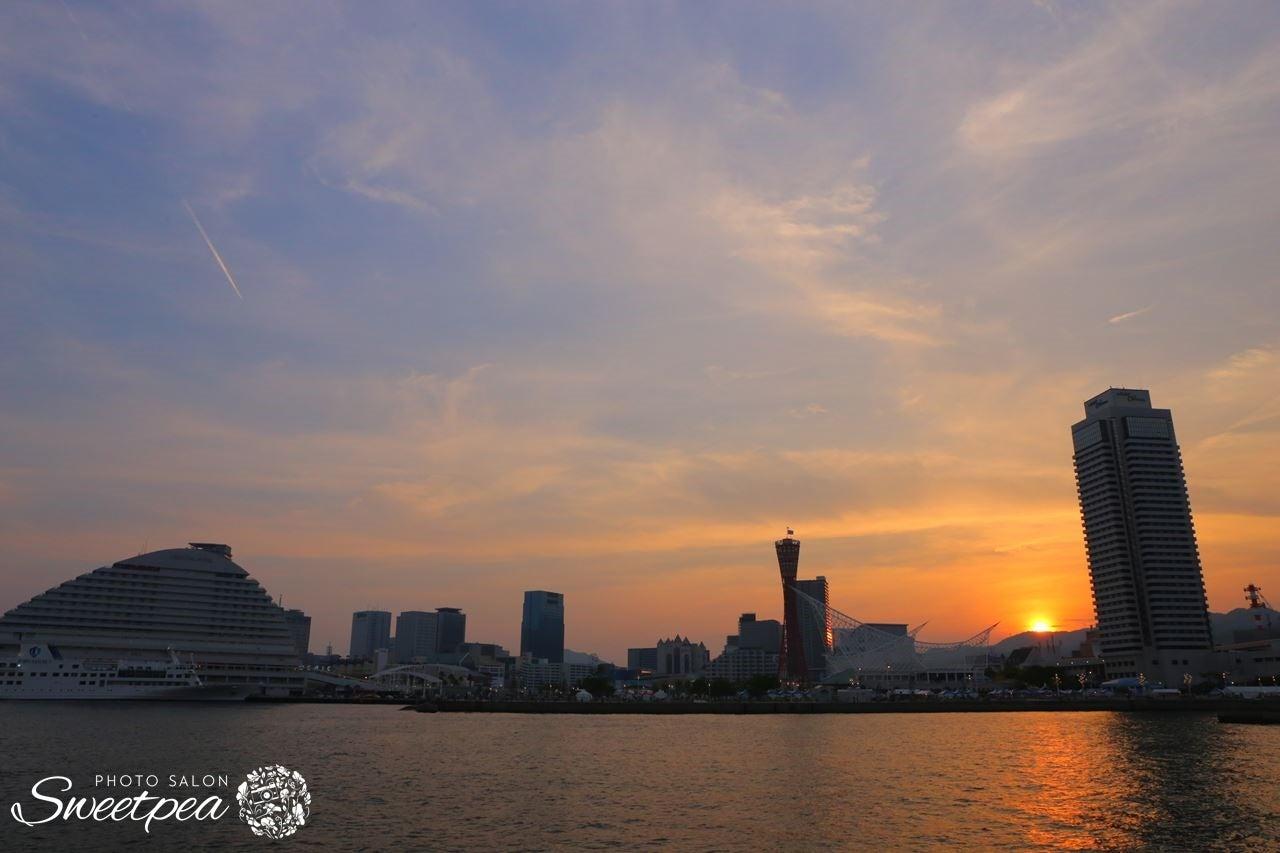 神戸 神戸港 ハーバーランド メリケンパーク ポートタワー サンセット