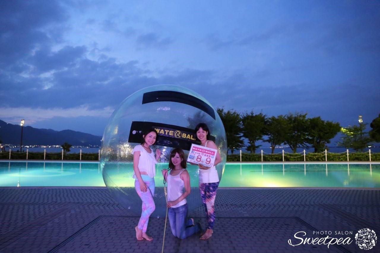 関西 滋賀 大津 琵琶湖 湖畔 ホテル プール 夜景 撮影