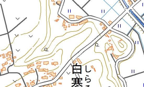 【図】白寒水城跡周辺