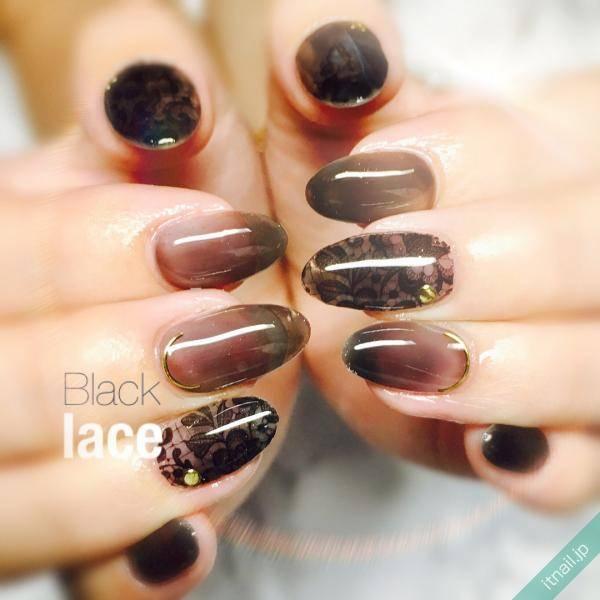 ネイル シンプル 黒