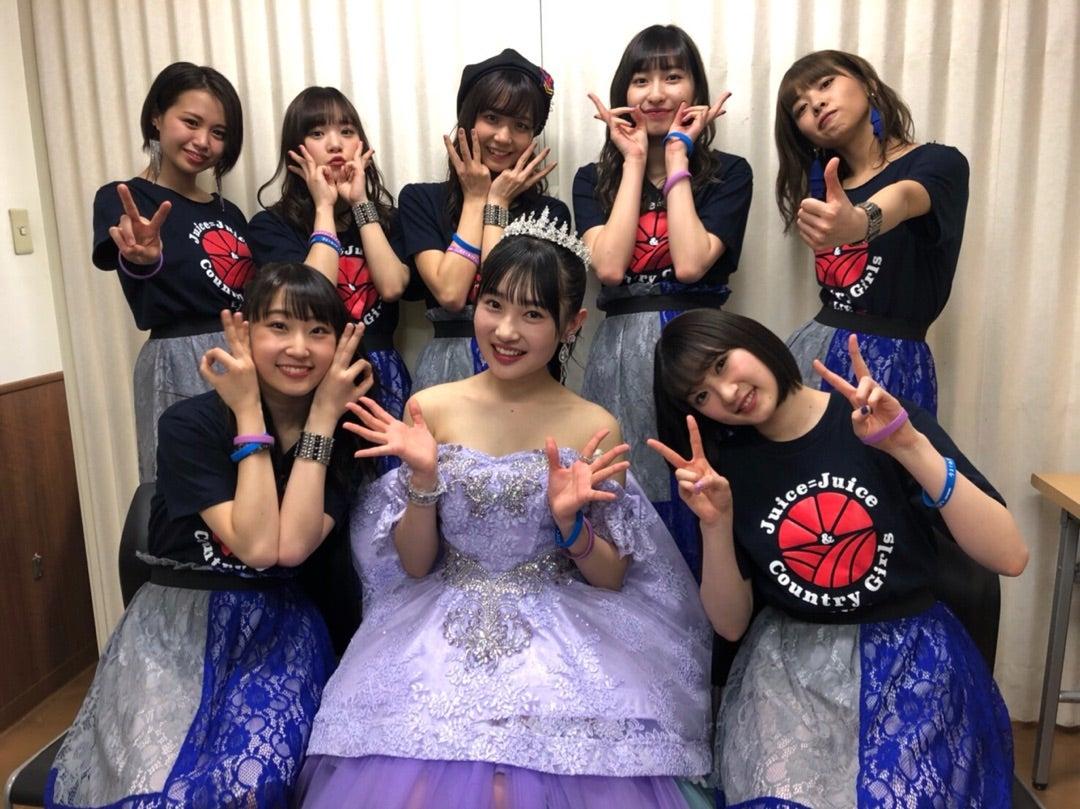 梁川奈々美さん、卒コンの後はカントリーガールズと過ごす