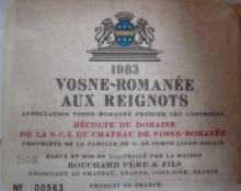 Vosne Romanee 1983 Aux Reignots