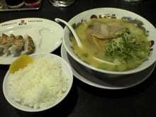 天下一品・餃子定食、中間スープ