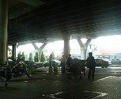 エアポートバス待ち合いベンチから。