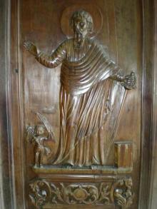 聖人の彫刻?