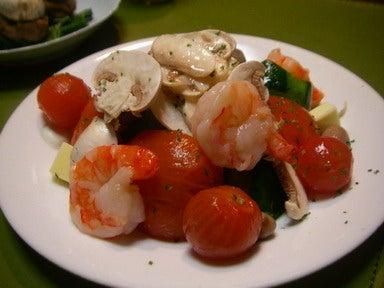 マッシュルームの海鮮サラダ