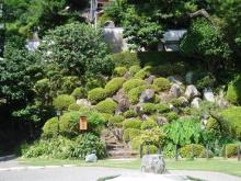 海蔵寺の庭石と植え込み