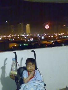 独立記念日の花火(赤)