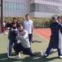 高校陸上部と合同練習