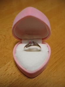 ルビーの指輪(本物)