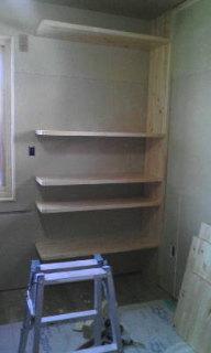 2F私の部屋・造作棚