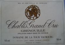 個人的ワインのブログ-Chablis Grand Cru Grenouille Vaubourg 1989
