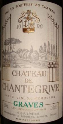 Ch de Chantegrive 1996