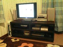 三日坊主を治す努力も三日までorz-テレビボード設置完了