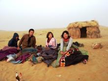 砂漠で野宿