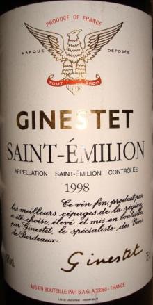 Ginestet Saint Julien 1998