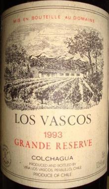Los Vascos Colchagua 1993
