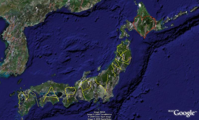 やっさんのGPS絵画プロジェクト-GPS進捗0102