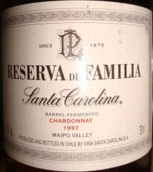 Reserva de Familia Santa Carolina 1997